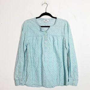 Vineyard Vines Chambray Railing Print Popover Top